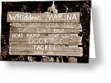 Whiddens Marina 1925 Greeting Card
