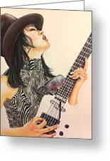 While My Guitar Gently Weeps Greeting Card