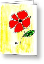 Whimsey Red Greeting Card