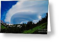 Whirling Clouds  Greeting Card