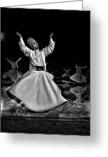Whirling Dervish Greeting Card by Okan YILMAZ