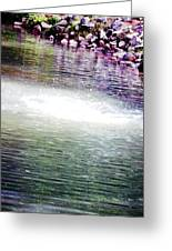 Whirlpool Of Water Suds Greeting Card