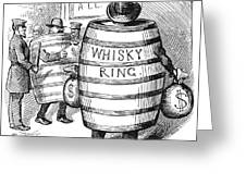 Whisky Ring Cartoon, 1875 Greeting Card