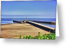 Whitby Harbour View Greeting Card