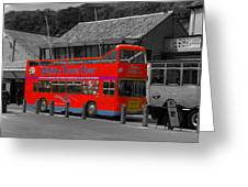 Whitby Tour Bus Greeting Card