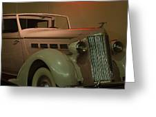 White Antique Automobile Greeting Card