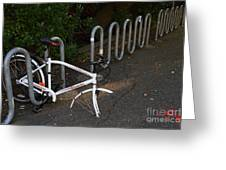 White Bicycle . 7d10119 Greeting Card