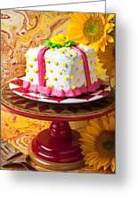 White Cake Greeting Card