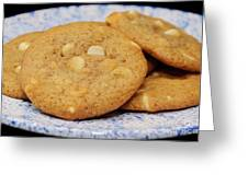 White Chocolate Chip Cookies Greeting Card