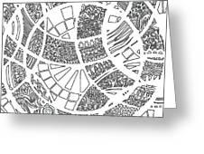 White Doodle Circles Greeting Card
