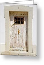 White Door Greeting Card by Carlos Caetano