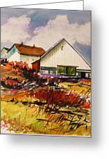 White Farm-spring Greeting Card