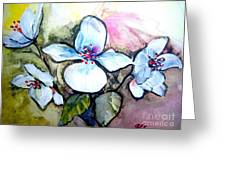 White Floral Group Greeting Card