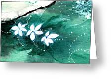 White Flowers Greeting Card by Anil Nene