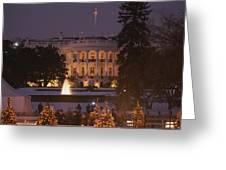 White House, From Elipse At Christmas Greeting Card