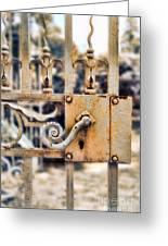 White Iron Gate Details Greeting Card