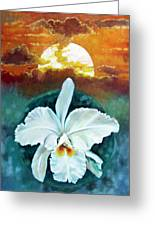 White Life On Blue Planet Greeting Card