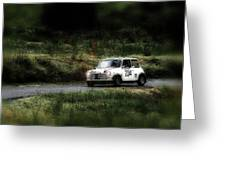 White Mini Innocenti Austin Morris Greeting Card