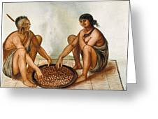 White: Native Americans Eating Greeting Card