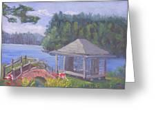 White Pine Camp Tea House Greeting Card