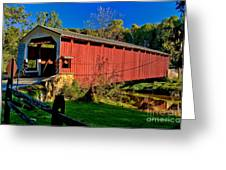 White Rock Forge Covered Bridge Greeting Card