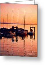 White Rock Sailboats Hdr Greeting Card