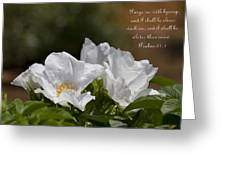 White Roses - Purge Me With Hyssop Greeting Card