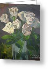 White Roses Greeting Card by Lilibeth Andre