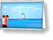 White Sails Greeting Card by Danielle  Parent