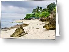 White Sand Beach Moal Boel Philippines Greeting Card