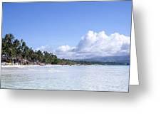 White Sand Beach1 Greeting Card