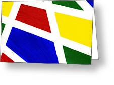 White Stripes 2 Greeting Card