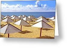 White Sunshades Greeting Card