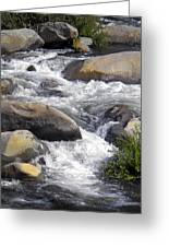 White Water Composition Greeting Card