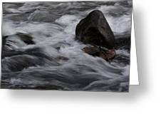 White Water Rushes Over Rocks Greeting Card