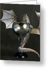 White Wine Dragon Greeting Card