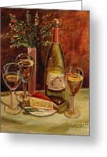 White Wine-dreams Greeting Card