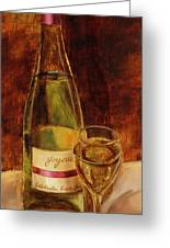 White Wine-joyous Greeting Card