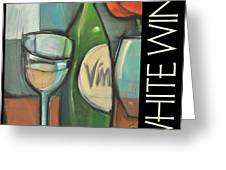 White Wine Poster Greeting Card