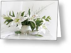 Whites Lilies Greeting Card