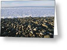 Whitewater From Crashing Waves Washes Greeting Card