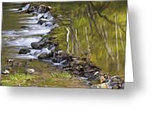 Whitewater River Rock Dam 1 A Greeting Card