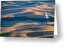 Whitman County Grain Silo Greeting Card