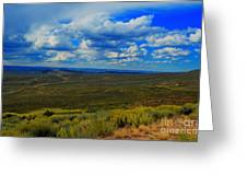 Wide Open Wyoming Sky Greeting Card