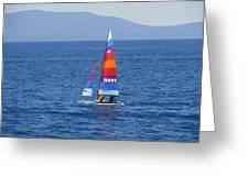 Wide Sail Greeting Card
