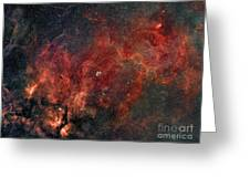Widefield View Of He Crescent Nebula Greeting Card