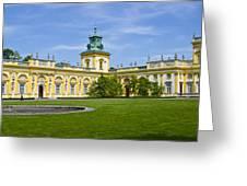 Wilanow Palace - Warsaw Greeting Card