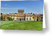 Wilanow Palace - Warsaw Poland Greeting Card