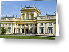 Wilanow Palace And Museum - Poland Greeting Card
