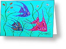 Wild Angelfish Greeting Card